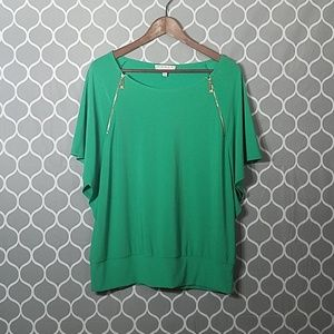 CHAUS Emerald Green Blouse